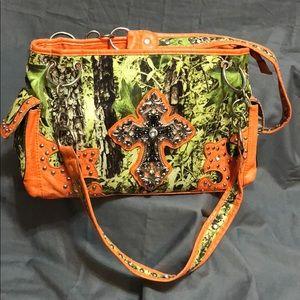 Bright Orange Camouflage Purse